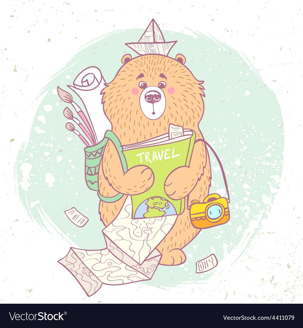 Bear travel vector