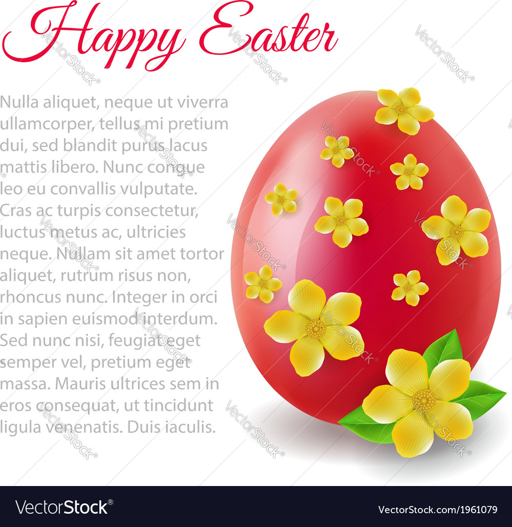 Card with easter egg vector | Price: 1 Credit (USD $1)