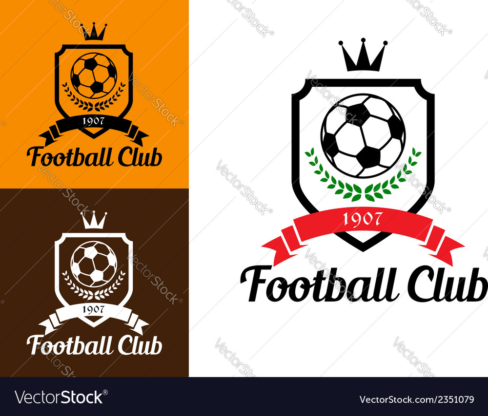 Football or soccer crests vector | Price: 1 Credit (USD $1)