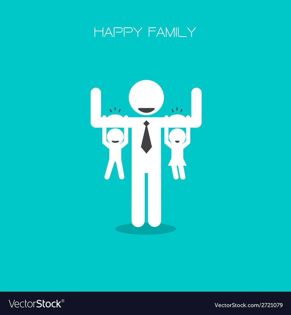Happy family having fun vector | Price: 1 Credit (USD $1)