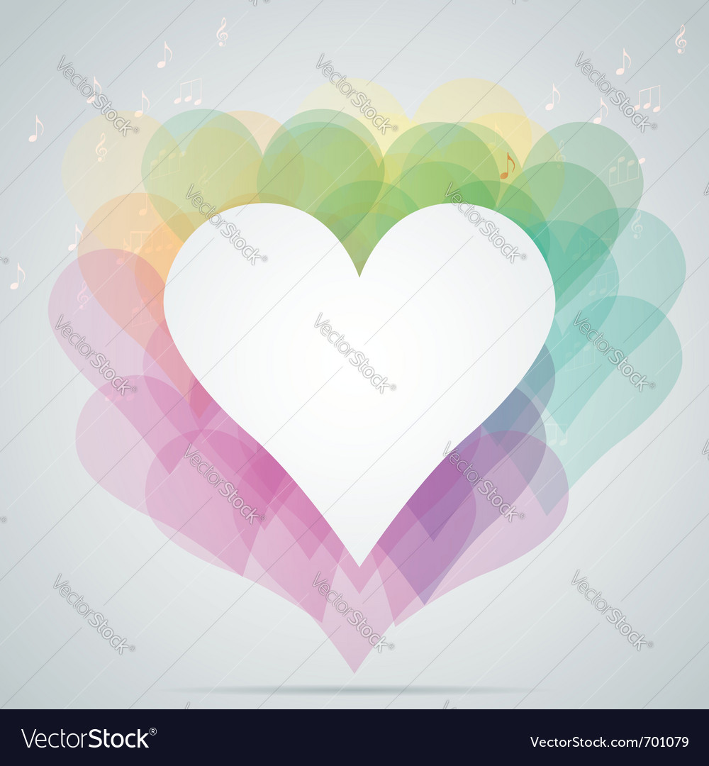Hearts note vector | Price: 1 Credit (USD $1)
