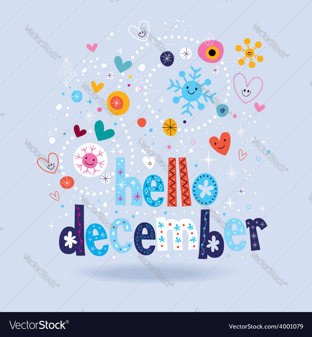 Hello december 2 vector | Price: 1 Credit (USD $1)