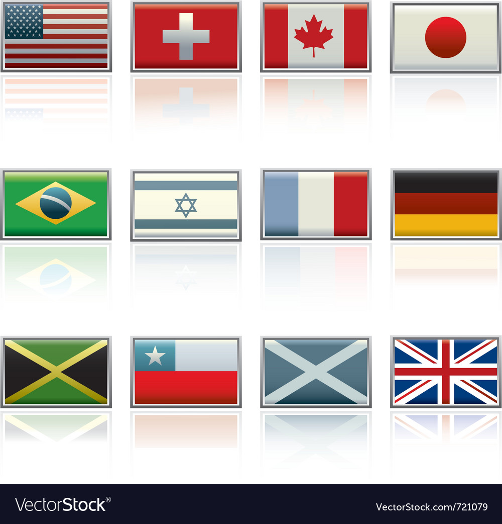 International flag icons vector | Price: 1 Credit (USD $1)