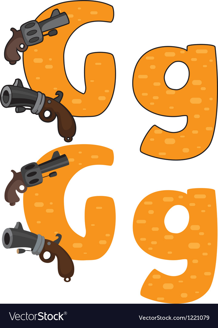 Letter g gun vector | Price: 1 Credit (USD $1)