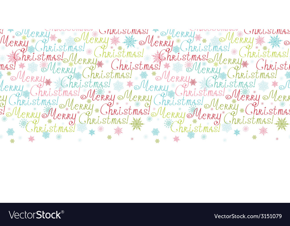 Merry christmas text horizontal border seamless vector | Price: 1 Credit (USD $1)