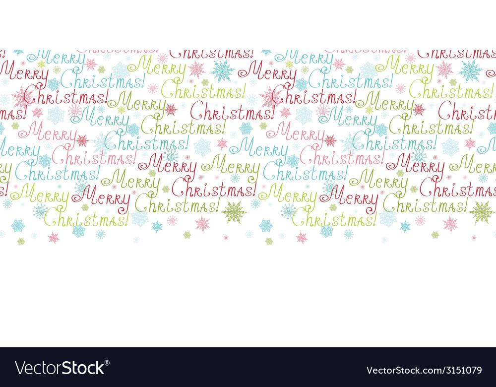 Merry christmas text horizontal border seamless vector | Price: 1 Credit (USD $1)
