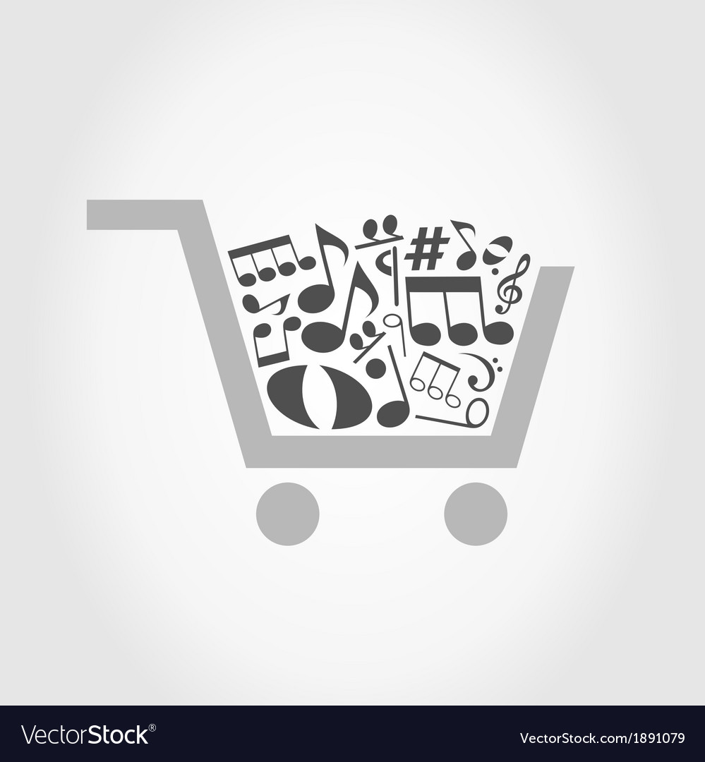 Note a cart vector | Price: 1 Credit (USD $1)