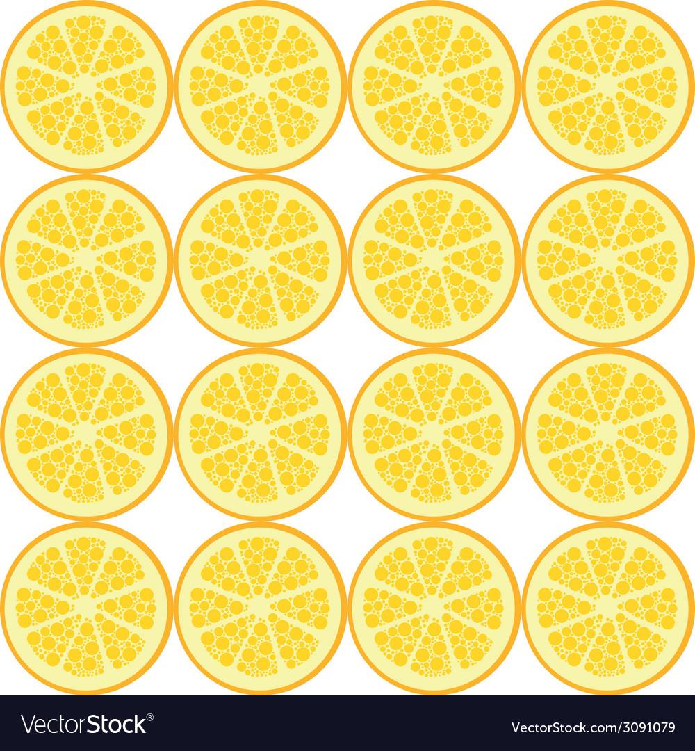 Seamless orange pattern vector | Price: 1 Credit (USD $1)