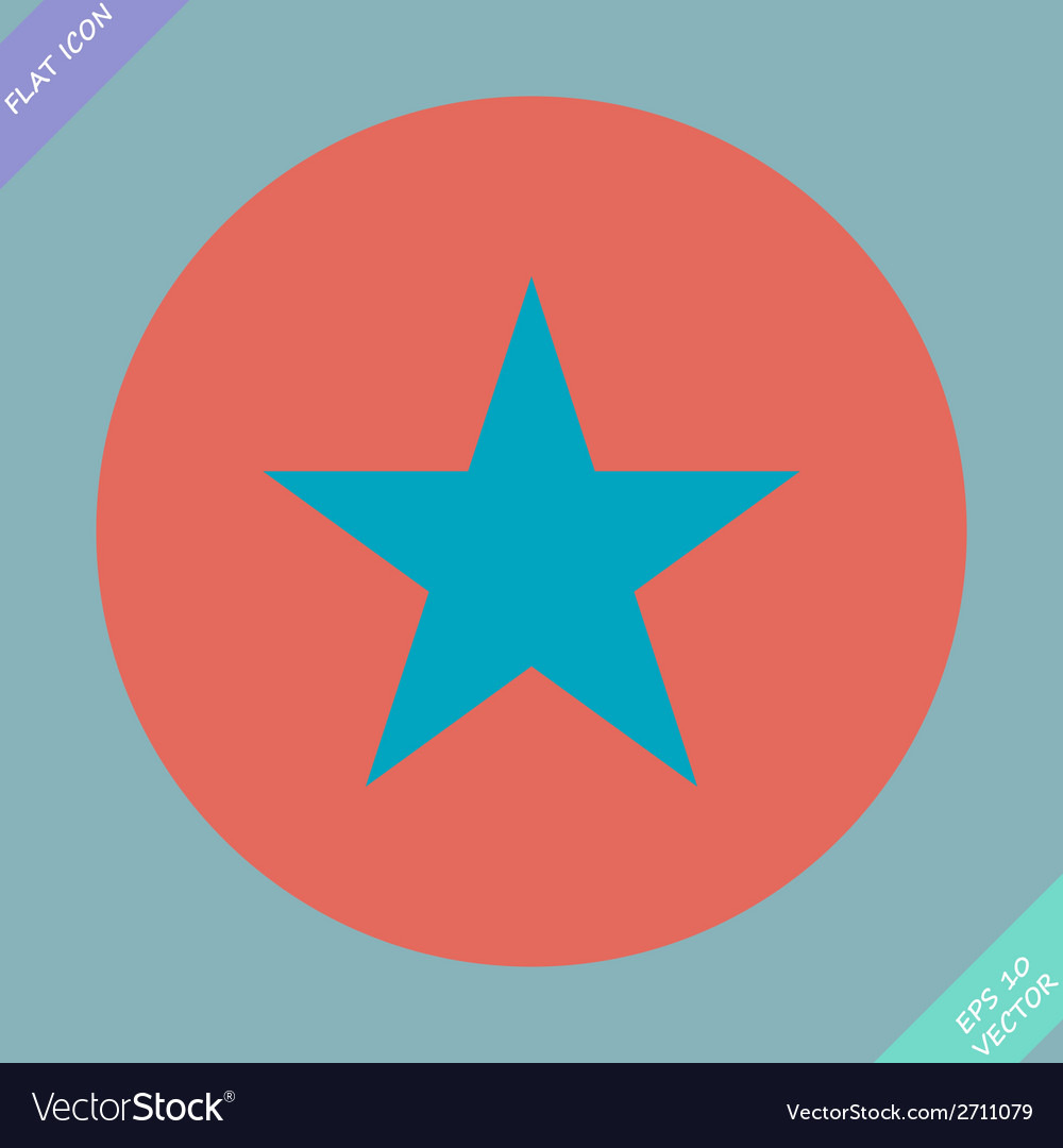Star icon  flat design style vector | Price: 1 Credit (USD $1)