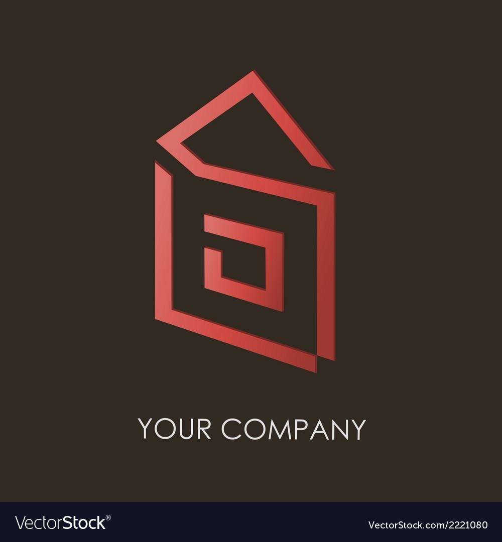 Business logo simple house geometric icon design vector | Price: 1 Credit (USD $1)