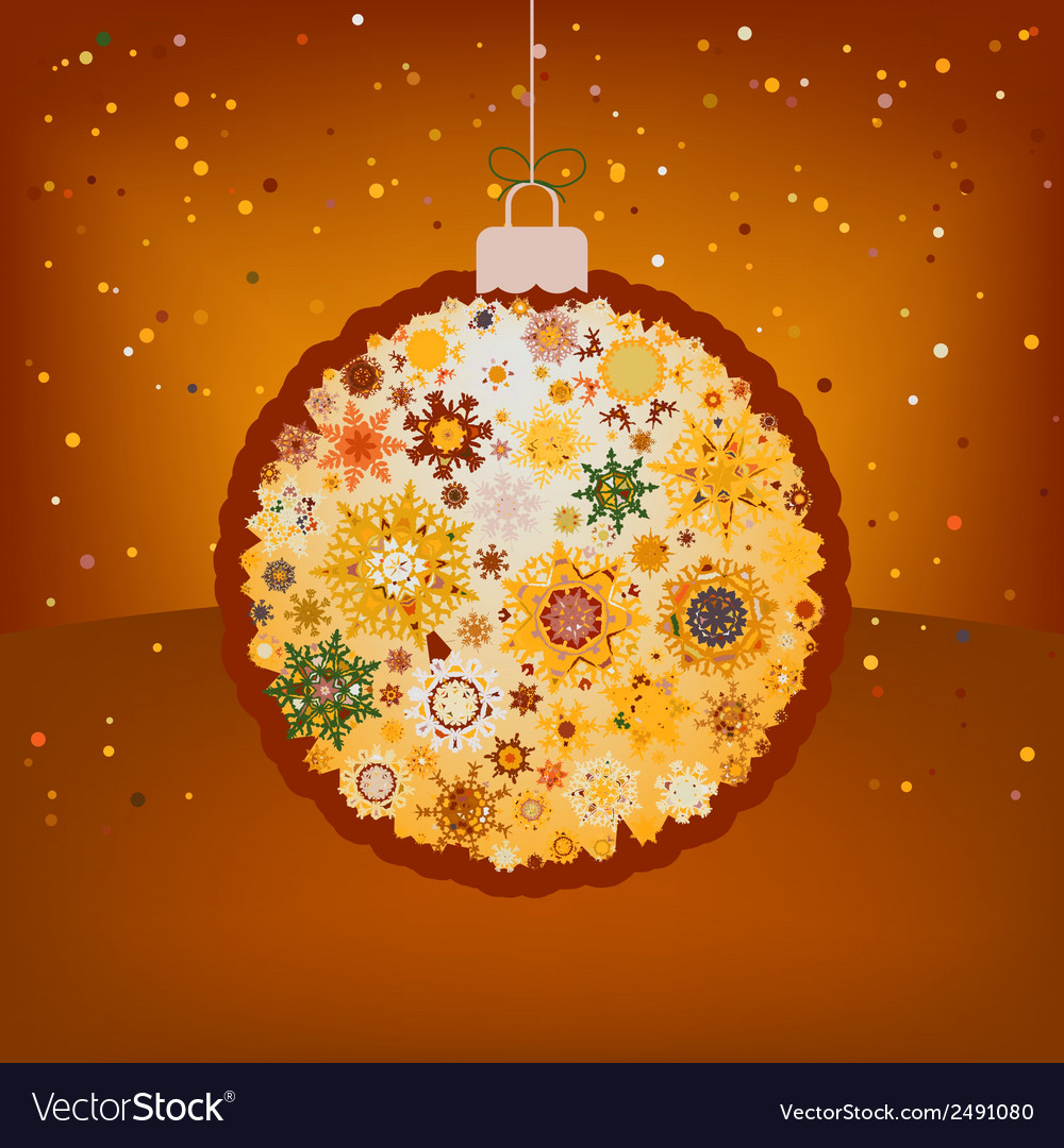Christmas ball in retro style eps 8 vector | Price: 1 Credit (USD $1)