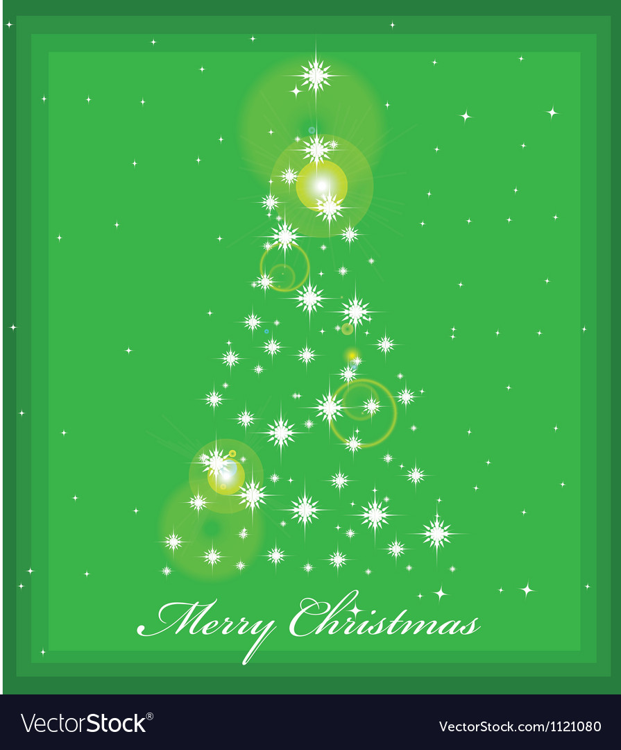 Christmas tree with lights vector | Price: 1 Credit (USD $1)