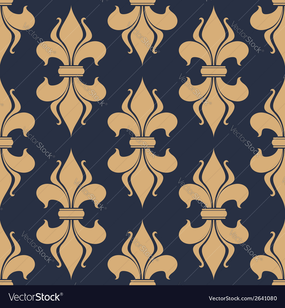 Classic french fleur-de-lis seamless pattern vector | Price: 1 Credit (USD $1)