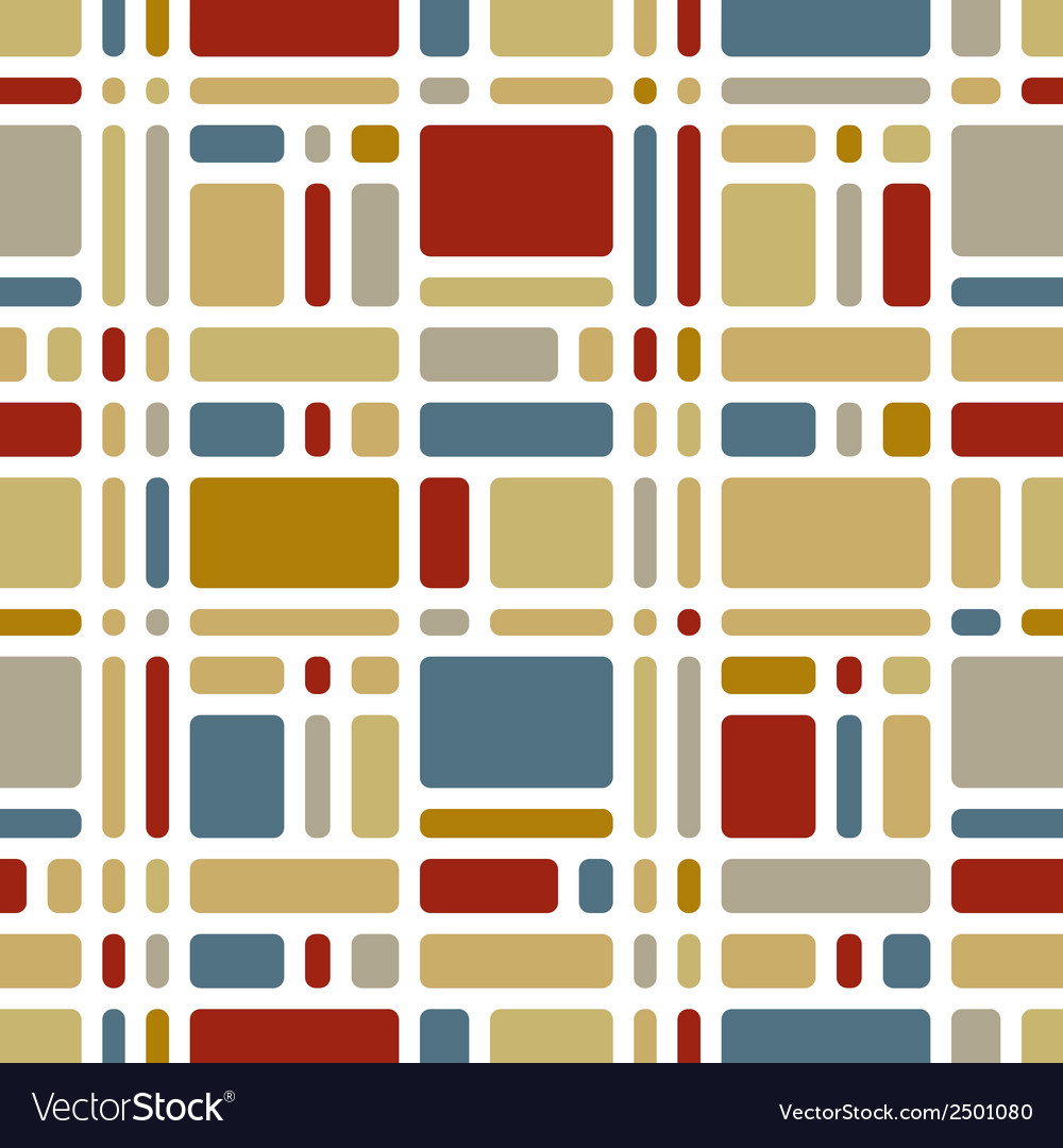 Colorful mosaic tiles seamless pattern vector | Price: 1 Credit (USD $1)