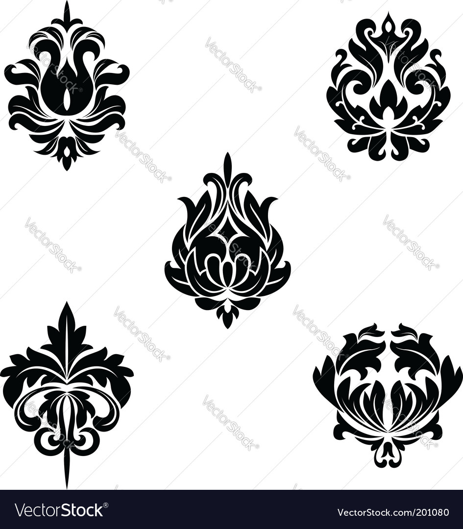 Floral patterns vector | Price: 1 Credit (USD $1)