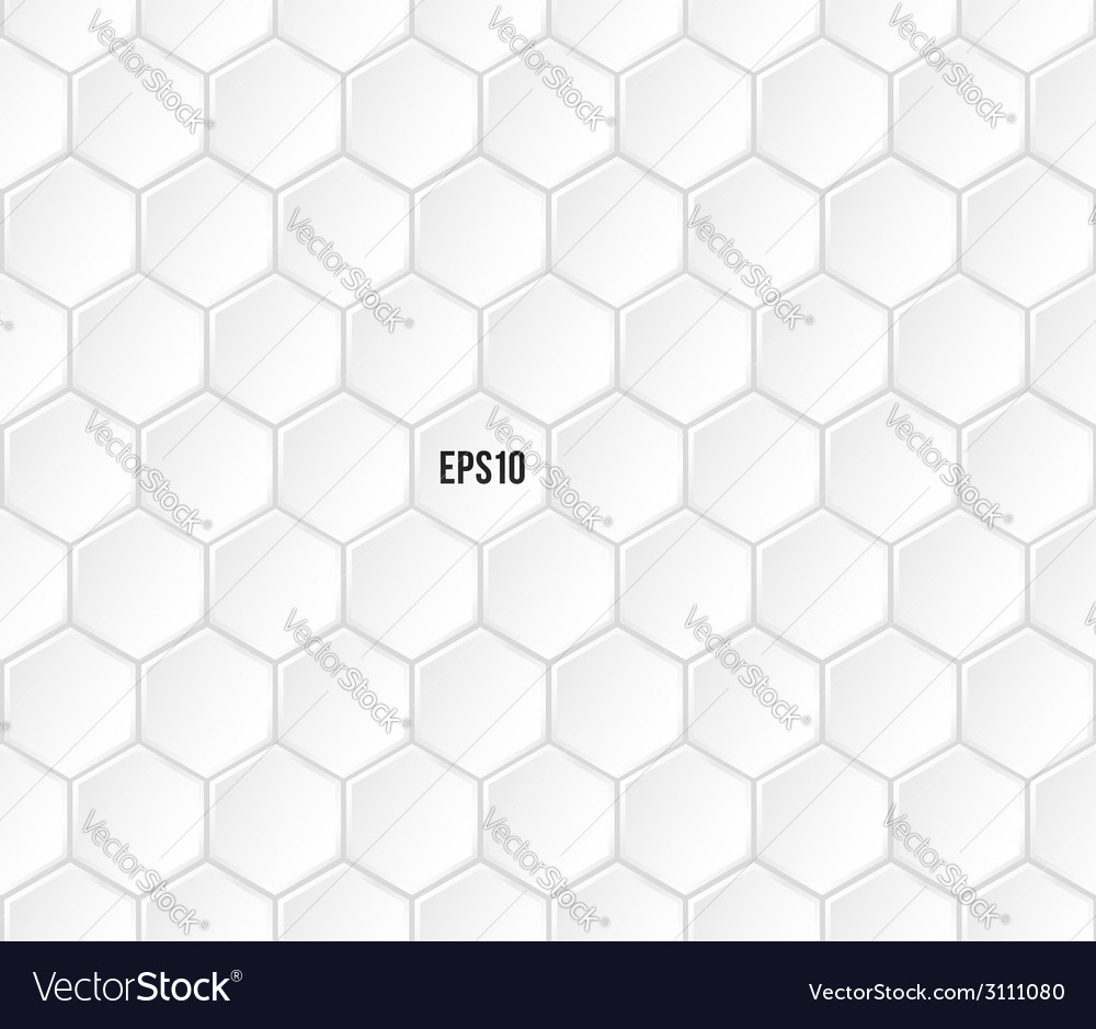 Geometric white hexagonal seamless pattern vector | Price: 1 Credit (USD $1)