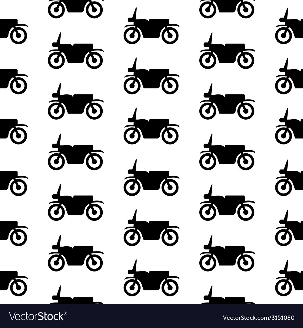 Motorcycle symbol seamless pattern vector | Price: 1 Credit (USD $1)