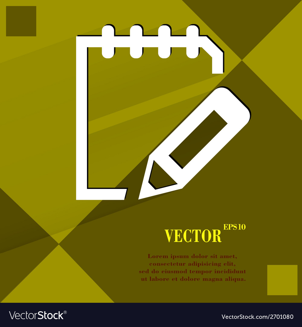 Notepad paper documents flat modern web design on vector | Price: 1 Credit (USD $1)