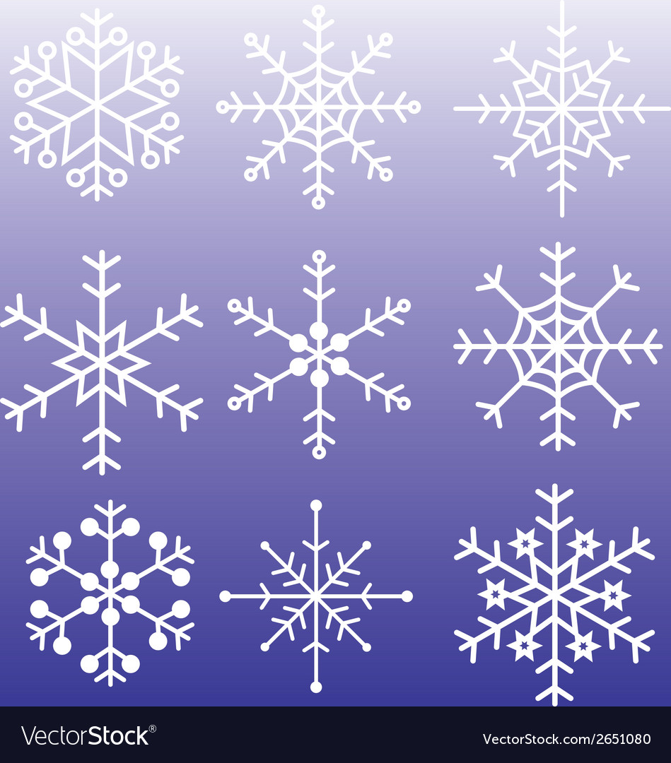 Snowflakes styles eps10 vector | Price: 1 Credit (USD $1)