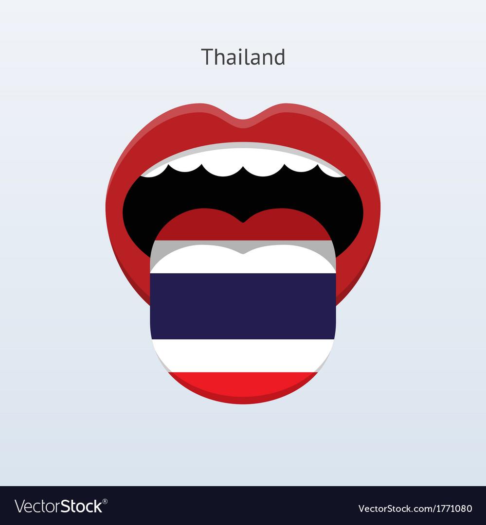 Thailand language abstract human tongue vector | Price: 1 Credit (USD $1)