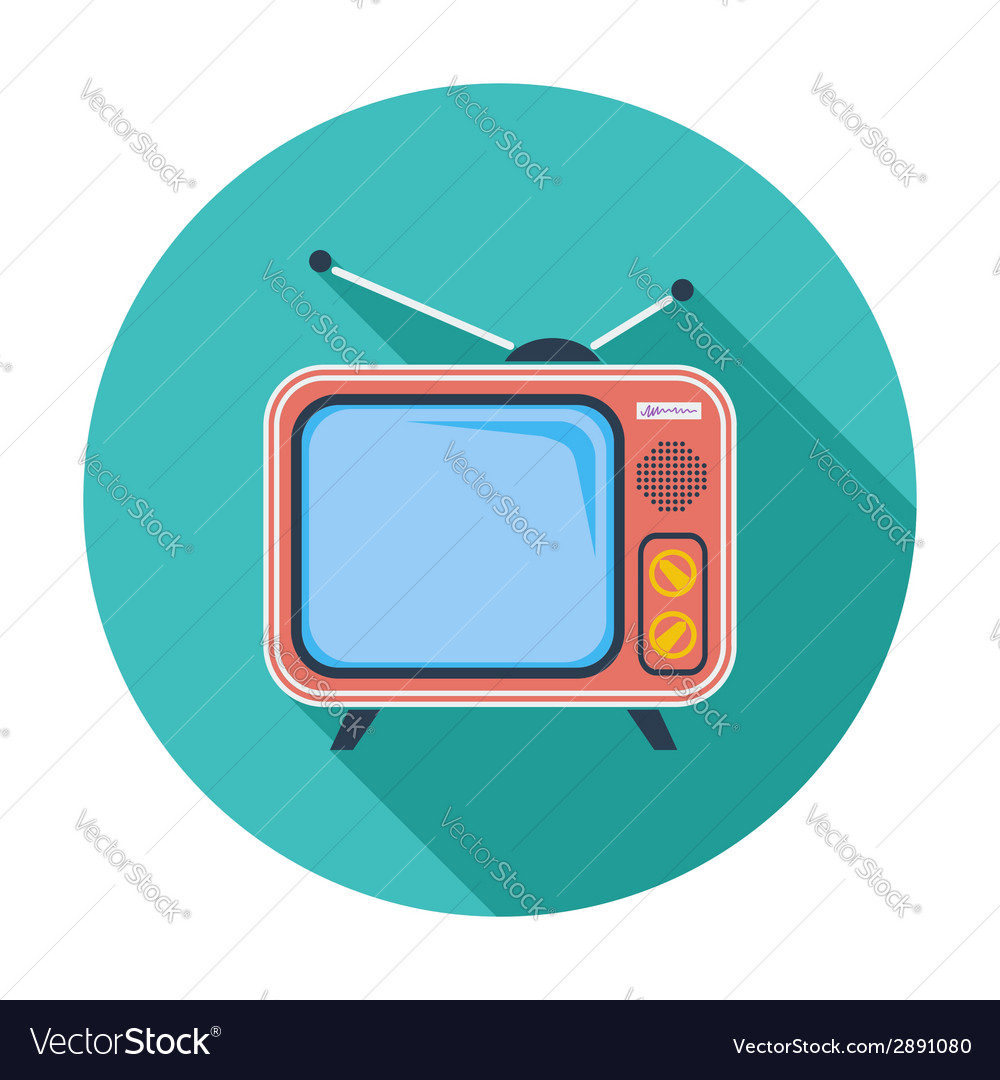 Tv single icon vector | Price: 1 Credit (USD $1)