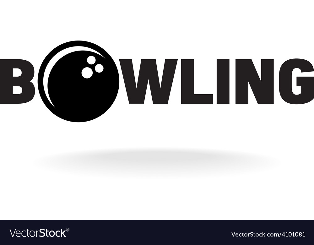 Bowling word logo with ball in o letter place vector | Price: 1 Credit (USD $1)