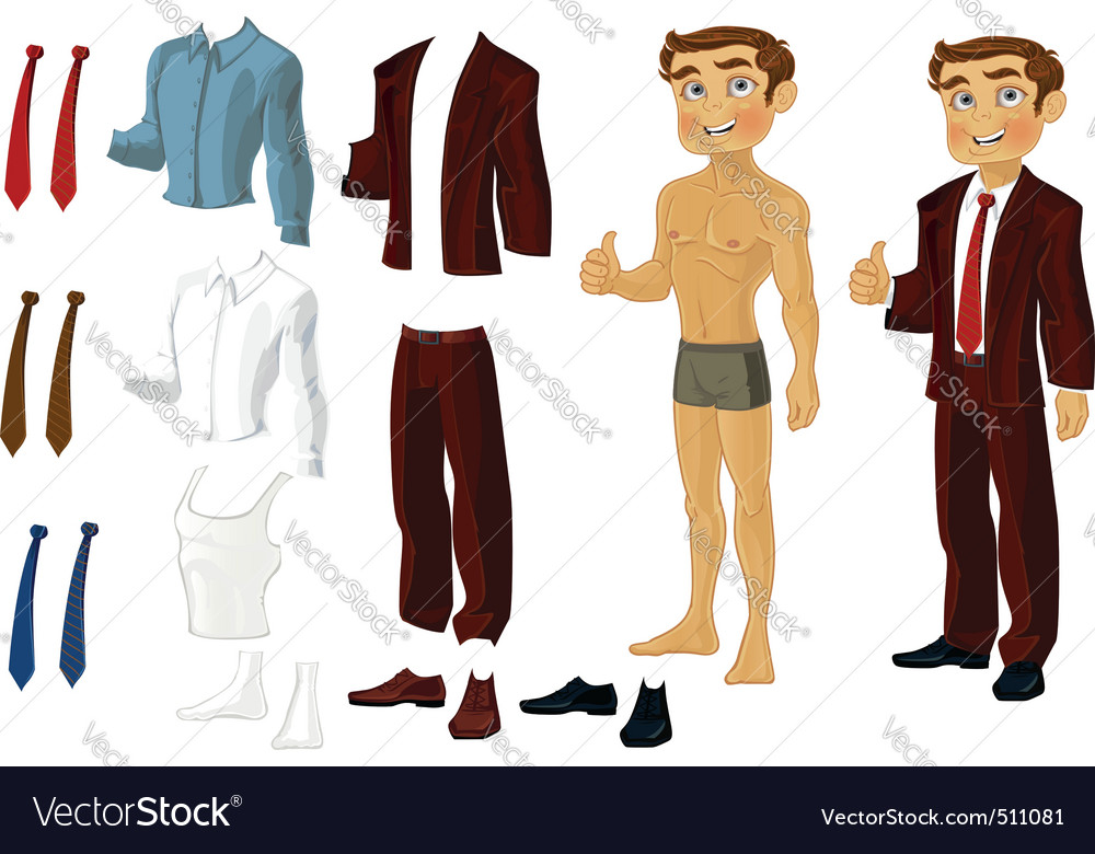 Businessman doll vector | Price: 3 Credit (USD $3)