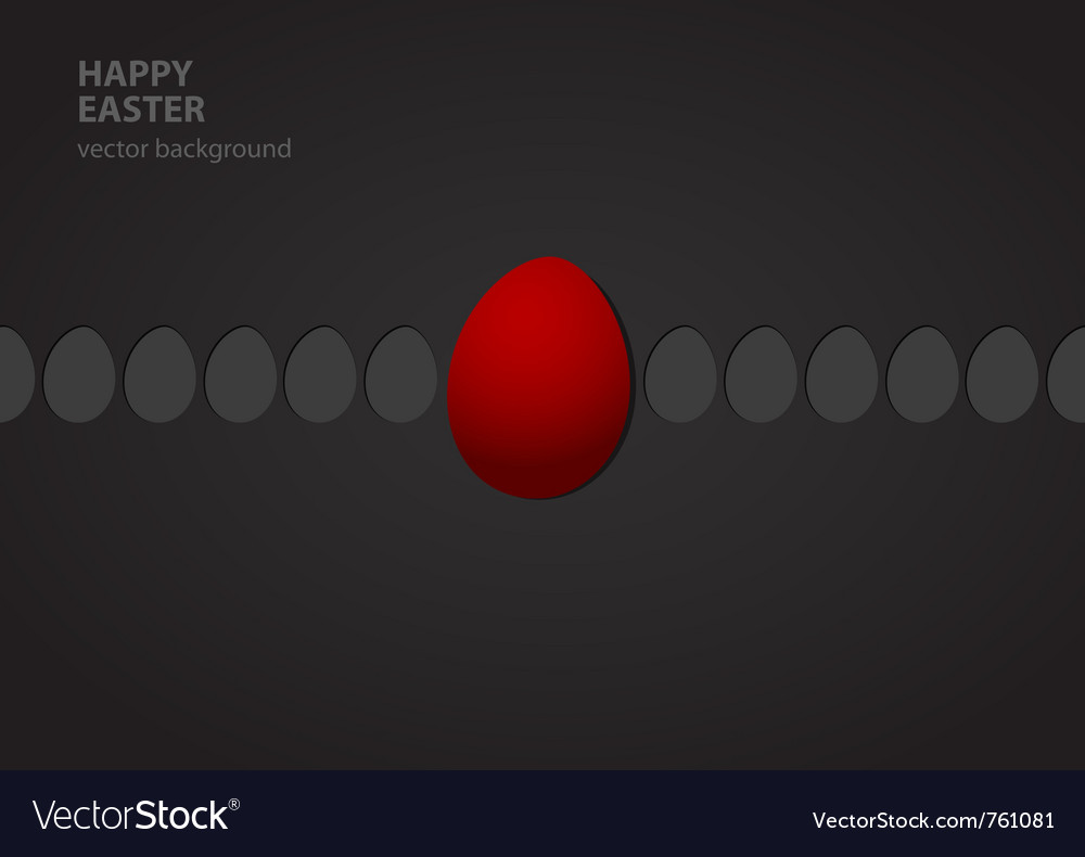 Easter eggs in row vector | Price: 1 Credit (USD $1)