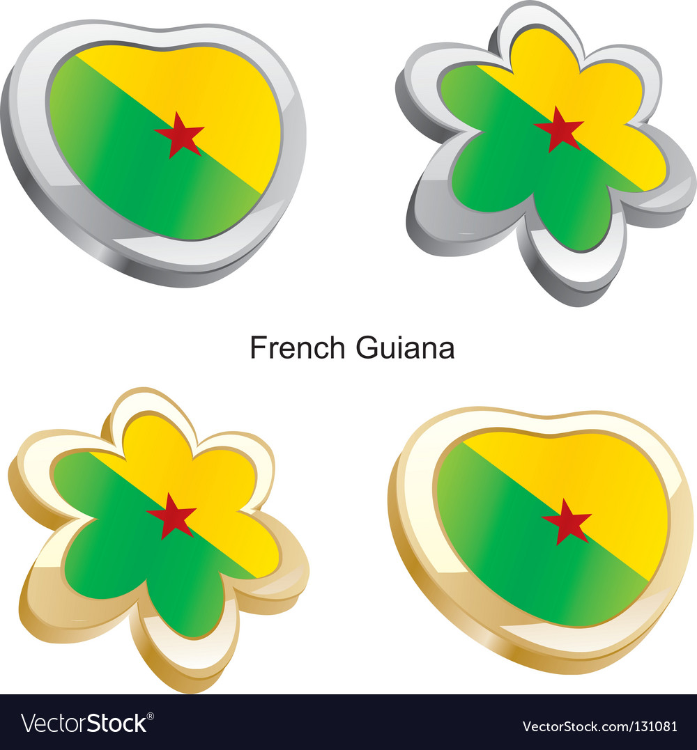 Flag of french guiana vector | Price: 1 Credit (USD $1)