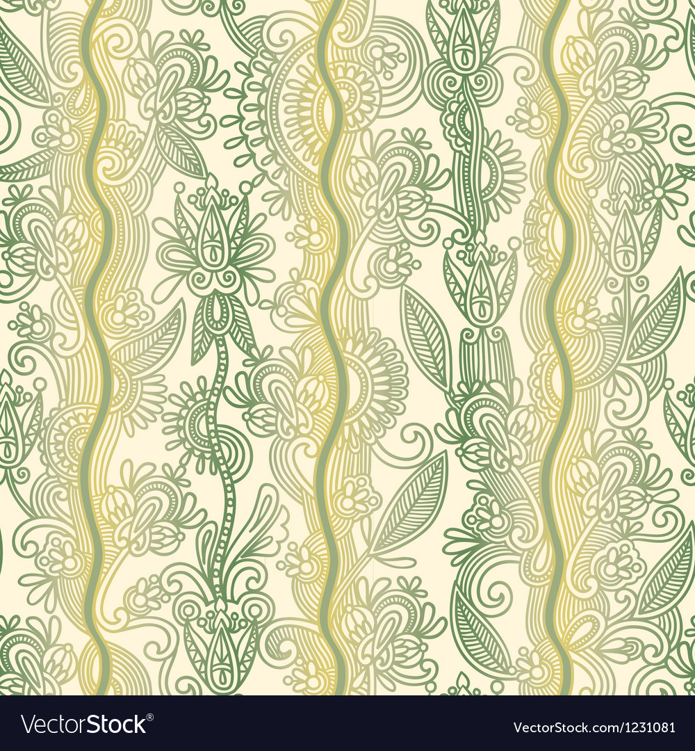 Hand draw ornate floral seamless wallpaper vector | Price: 1 Credit (USD $1)