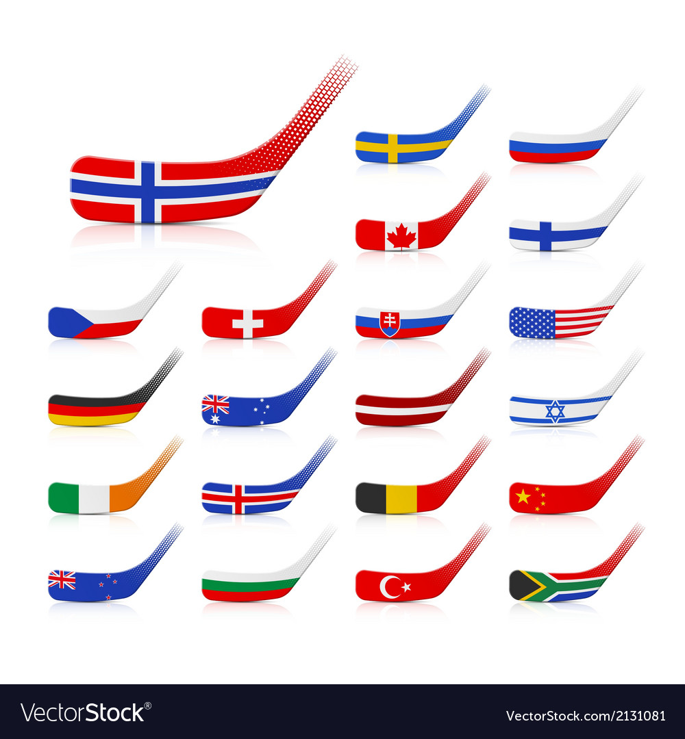 Ice hockey sticks with flags vector   Price: 1 Credit (USD $1)