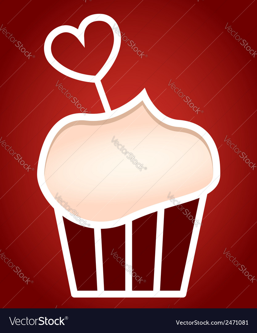 Paper cut frame stylized as cupcake vector | Price: 1 Credit (USD $1)