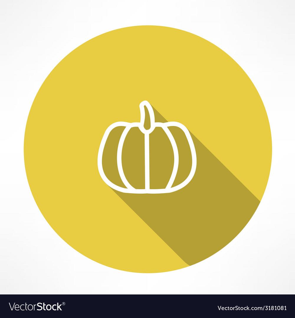 Pumpkin icon vector | Price: 1 Credit (USD $1)