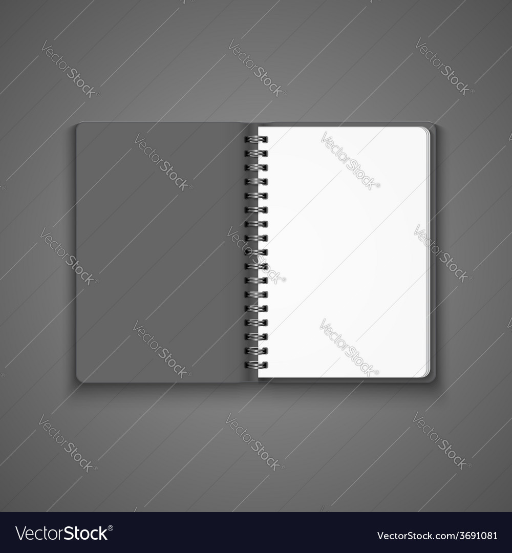 Realistic blank open notebook vector   Price: 1 Credit (USD $1)