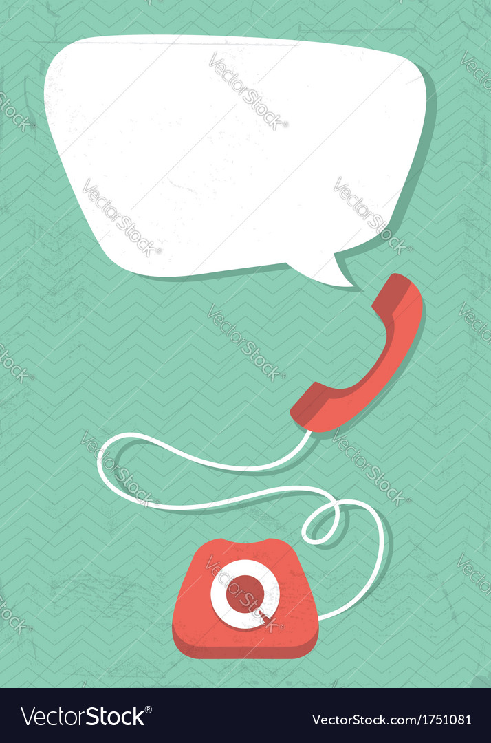 Retro phone vector | Price: 1 Credit (USD $1)