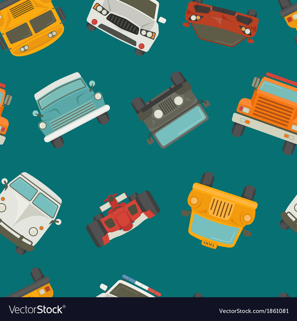 Seamless cars background and pattern vector | Price: 1 Credit (USD $1)