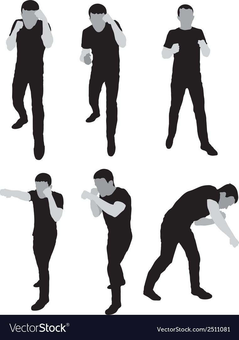 Silhouettes stand for sparring vector | Price: 1 Credit (USD $1)