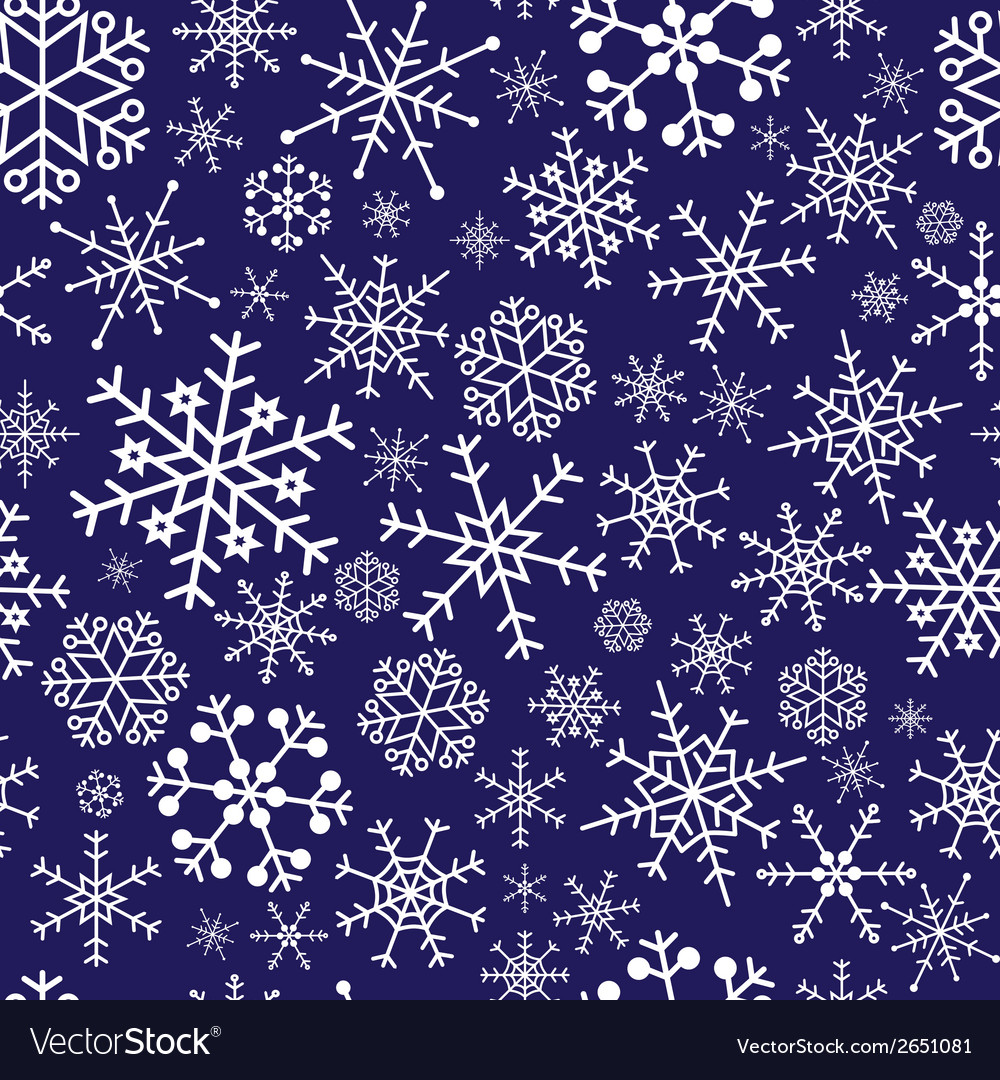 Snowflakes dark blue pattern eps10 vector | Price: 1 Credit (USD $1)