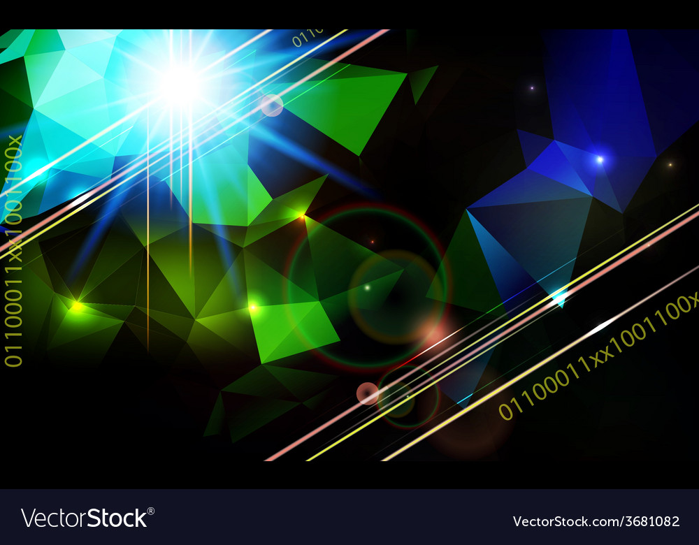 Abstract lens flare technology background vector | Price: 1 Credit (USD $1)
