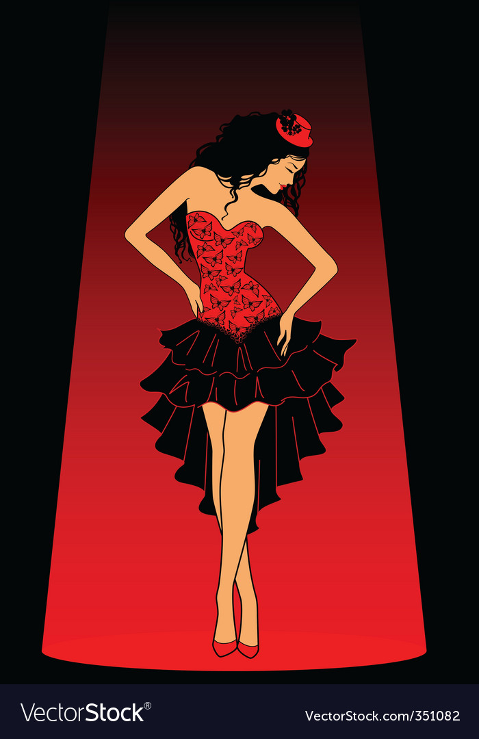 Cancan dancer vector | Price: 1 Credit (USD $1)