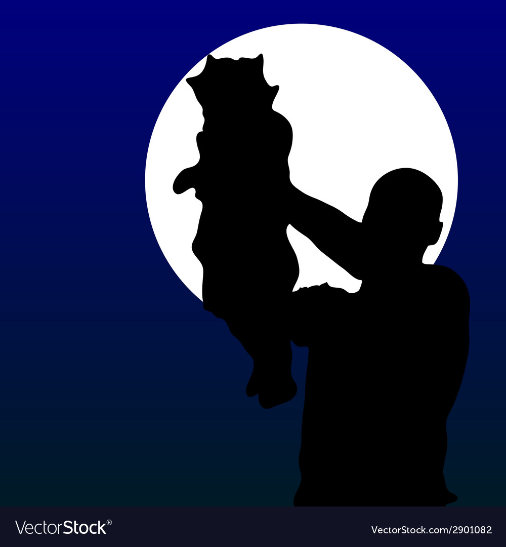 Father with baby vector | Price: 1 Credit (USD $1)