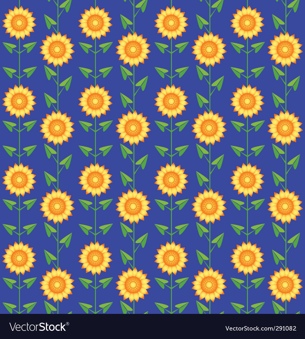 Pattern sunflowers vector | Price: 1 Credit (USD $1)