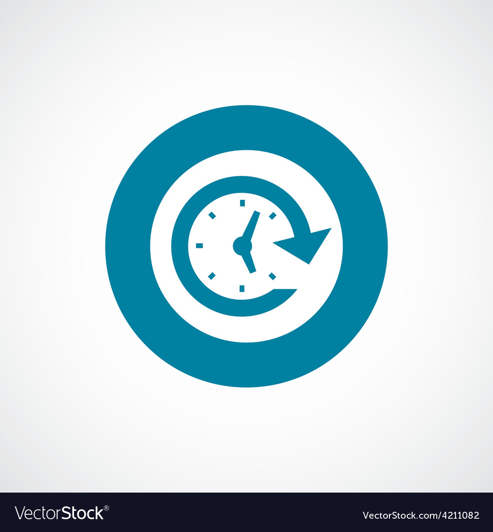 Time icon bold blue circle border vector | Price: 1 Credit (USD $1)