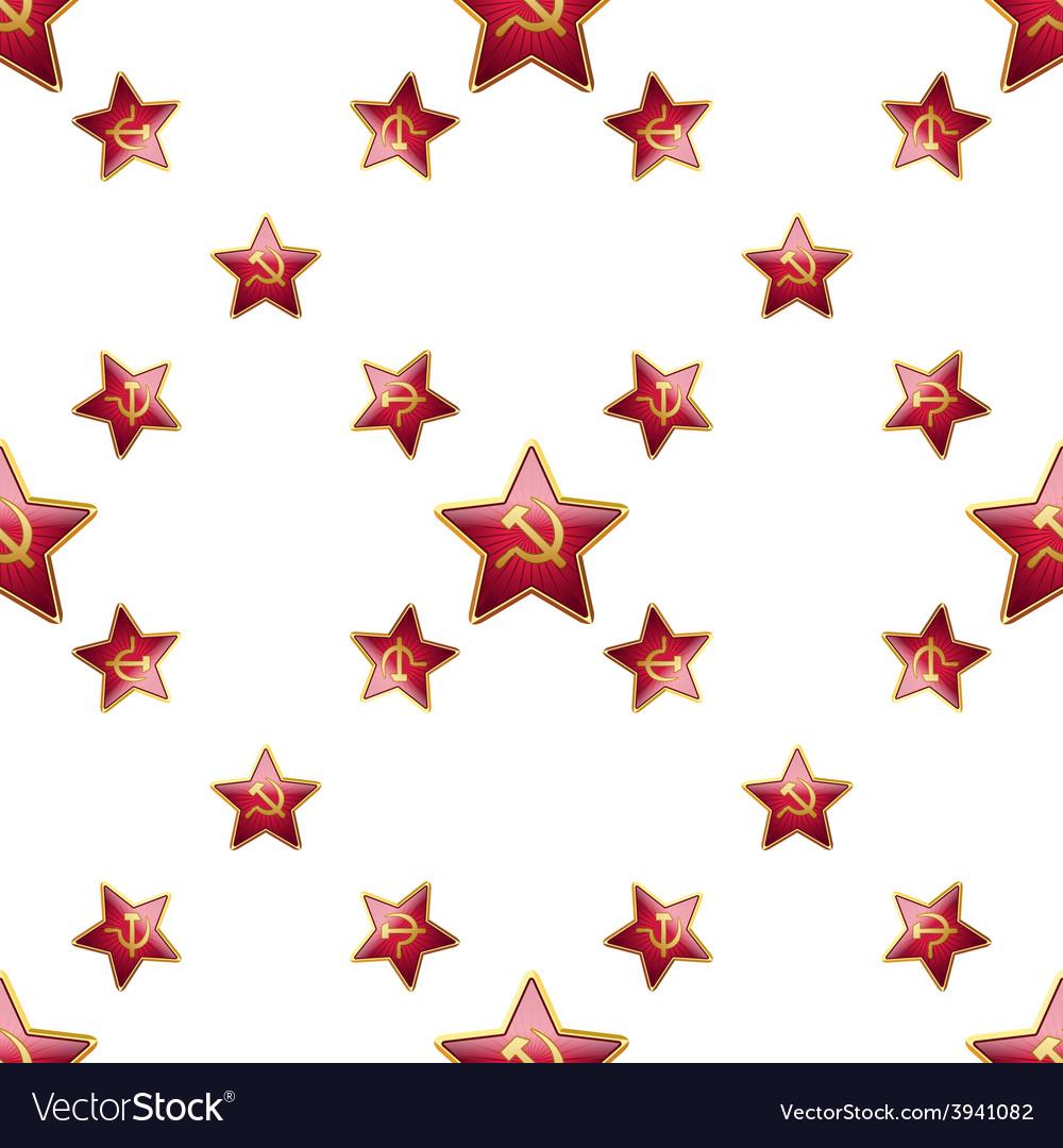 Universal badge soviet union stars seamless vector | Price: 1 Credit (USD $1)