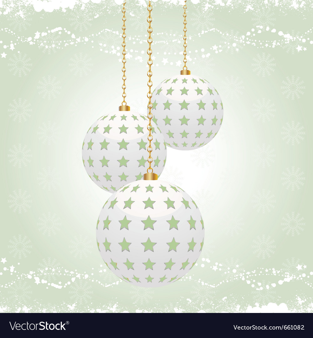 Vintage christmas baubles vector | Price: 1 Credit (USD $1)