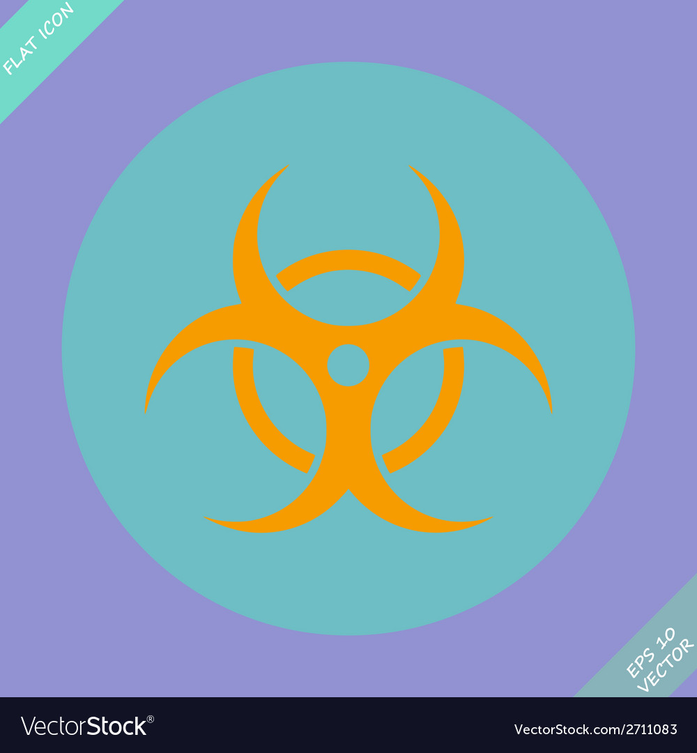 Biohazard symbol sign vector | Price: 1 Credit (USD $1)