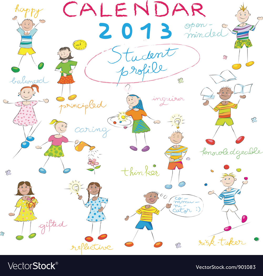 Calendar 2013 kids cover vector | Price: 1 Credit (USD $1)