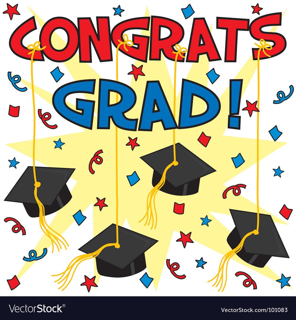 Congrats grad vector | Price: 3 Credit (USD $3)