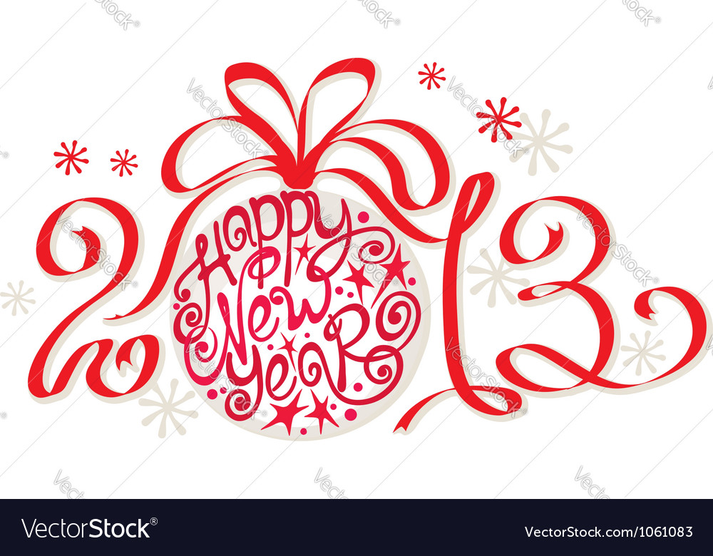 Decoration - happy new year 2013 vector