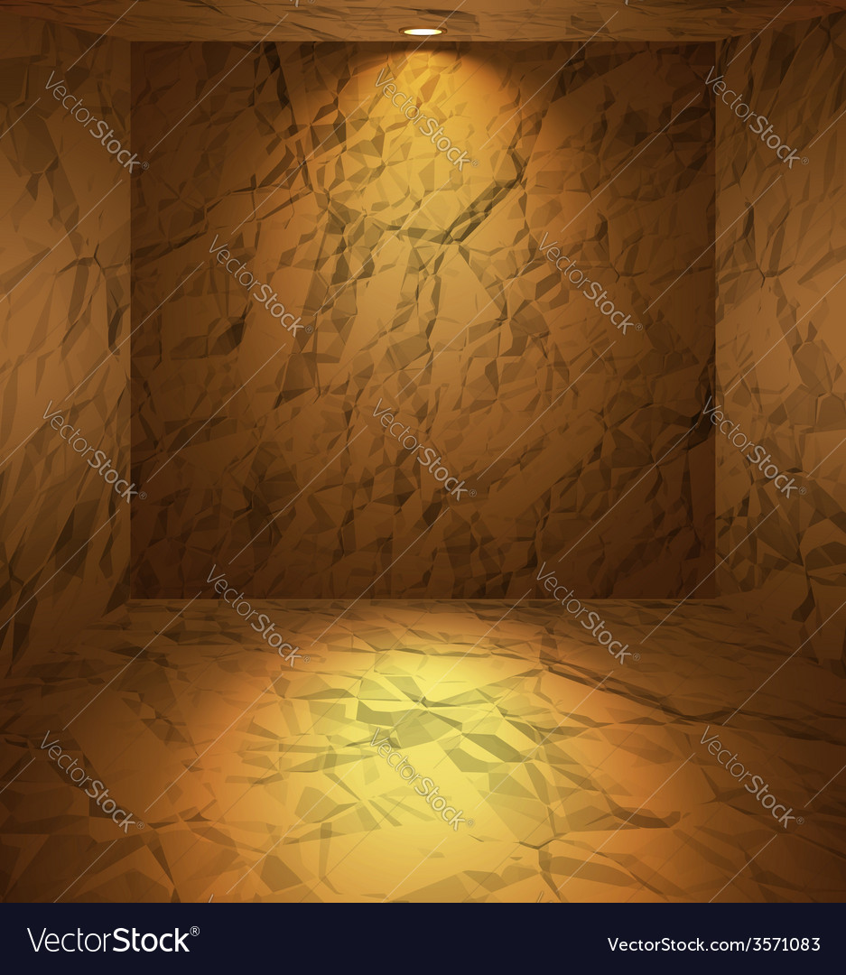 Dug room with earthen walls vector | Price: 1 Credit (USD $1)
